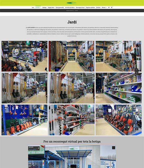 Agrijardi Diseño web en Barcelona