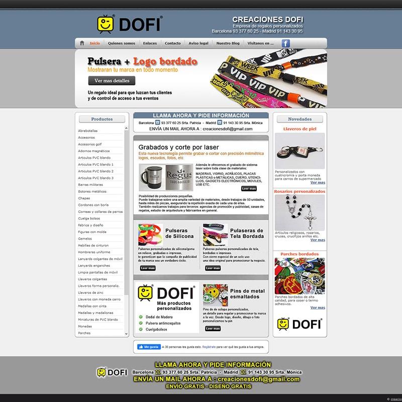 Creaciones Dofi Diseño web en Pineda de Mar