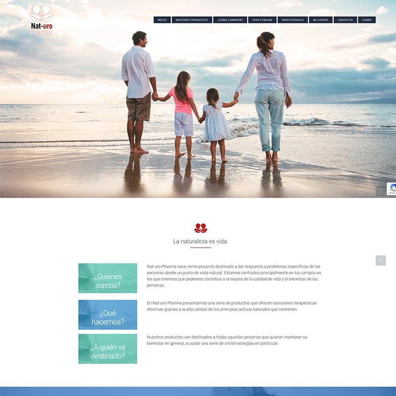 Nat-uro Pharma Diseño web
