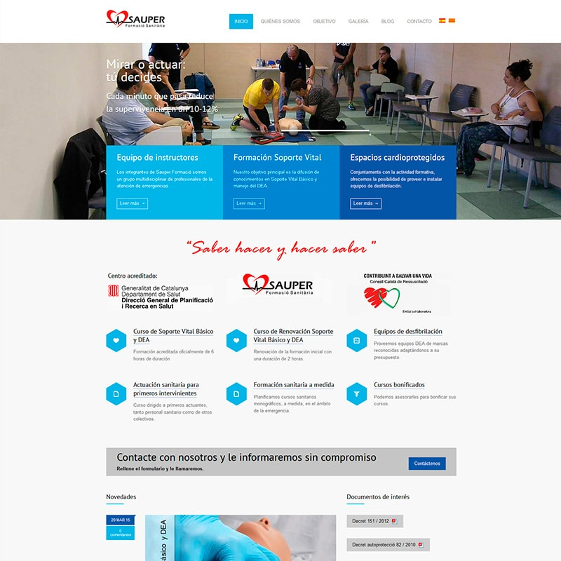 Sauper Diseño web en Barcelona