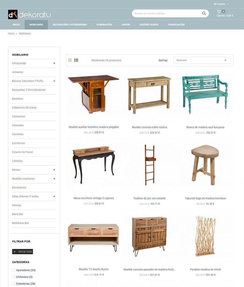 dekoratu-tienda online