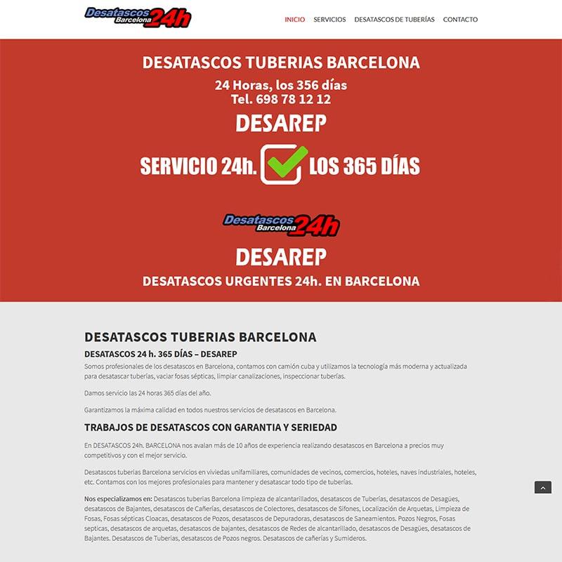 desatascos 24 hs. Diseño web en Barcelona