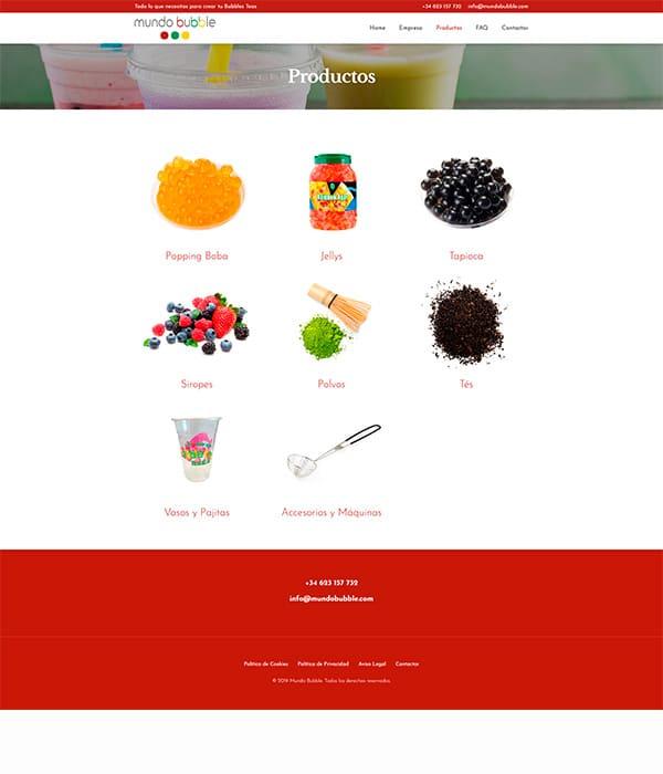 mundo-bubble Diseño web