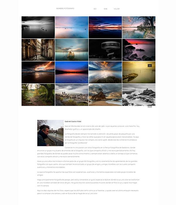 portfolio visual Diseño web