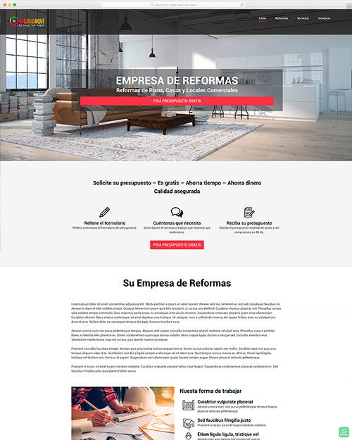 web para emprendedores